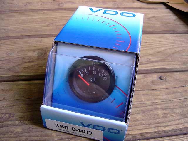vdo pressure gauge