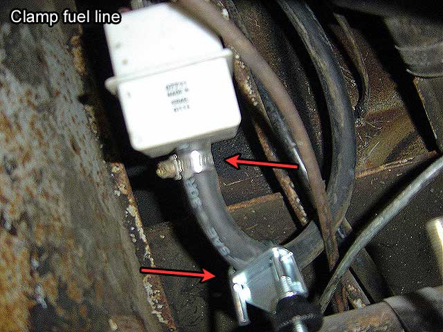 step 4: fuel line removal