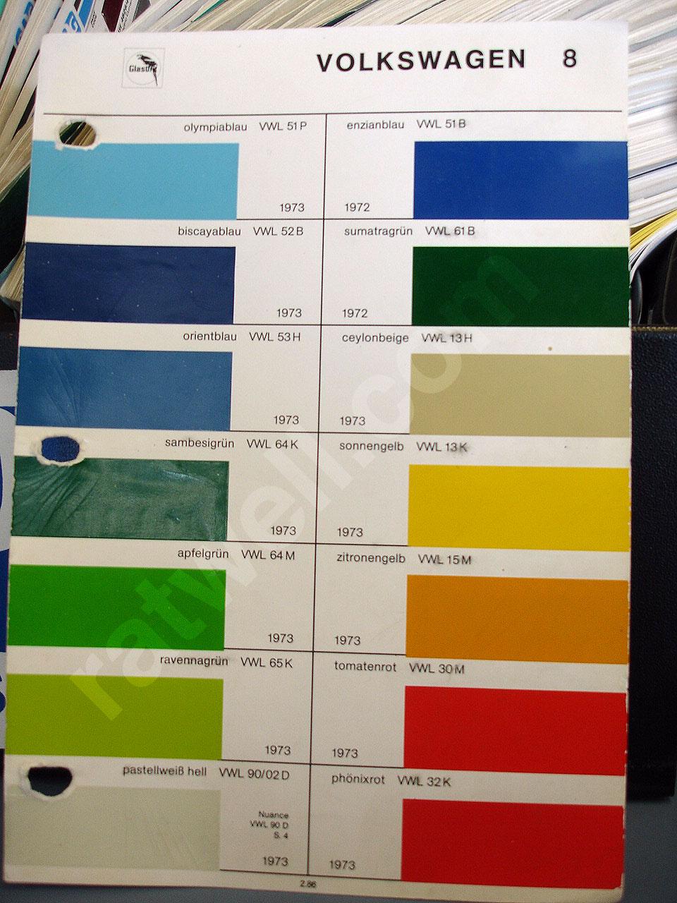 Classic Vw Paint Code Interior