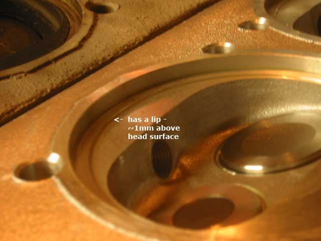 Heat exchanger to cylinder head sealing rings 1700 to 2000cc to 1977